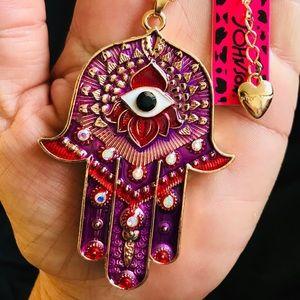 BETSEY JOHNSON~ Hamsa Hand Necklace